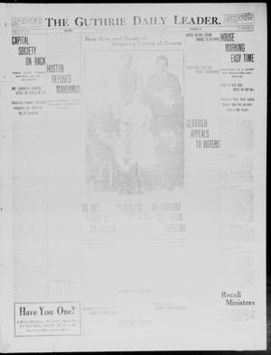 Primary view of object titled 'The Guthrie Daily Leader. (Guthrie, Okla.), Vol. 40, No. 62, Ed. 1 Saturday, March 22, 1913'.