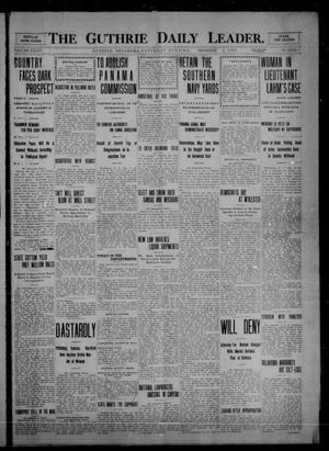Primary view of object titled 'The Guthrie Daily Leader. (Guthrie, Okla.), Vol. 34, No. 7, Ed. 1 Saturday, December 4, 1909'.
