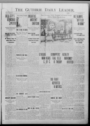 Primary view of object titled 'The Guthrie Daily Leader. (Guthrie, Okla.), Vol. 36, No. 31, Ed. 1 Friday, January 13, 1911'.