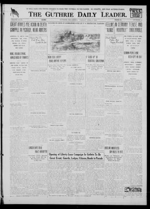 Primary view of object titled 'The Guthrie Daily Leader. (Guthrie, Okla.), Vol. 51, No. 60, Ed. 1 Friday, April 5, 1918'.