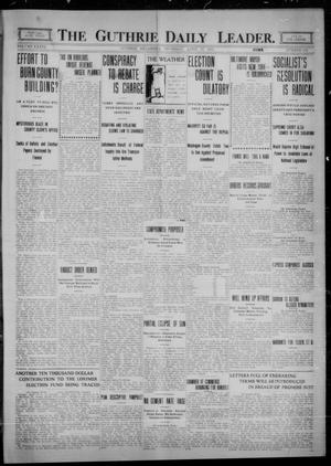 Primary view of object titled 'The Guthrie Daily Leader. (Guthrie, Okla.), Vol. 36, No. 112, Ed. 1 Thursday, April 27, 1911'.