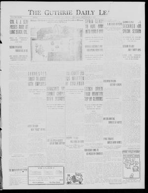 Primary view of object titled 'The Guthrie Daily Leader (Guthrie, Okla.), Vol. 49, No. 134, Ed. 1 Thursday, December 23, 1915'.