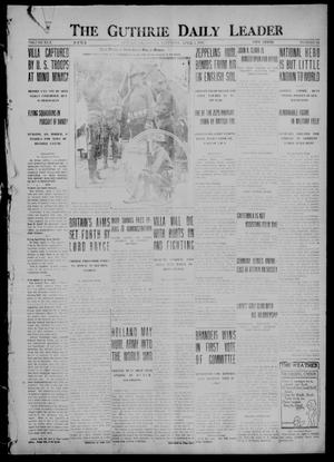 Primary view of object titled 'The Guthrie Daily Leader (Guthrie, Okla.), Vol. 50, No. 64, Ed. 1 Saturday, April 1, 1916'.