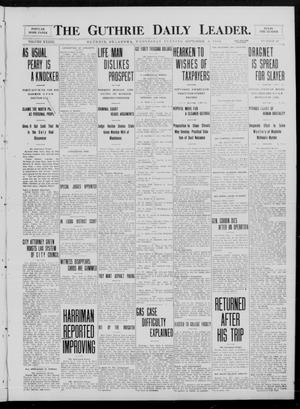 Primary view of object titled 'The Guthrie Daily Leader. (Guthrie, Okla.), Vol. 33, No. 89, Ed. 1 Wednesday, September 8, 1909'.