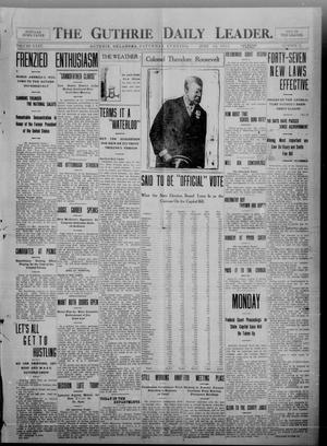 Primary view of object titled 'The Guthrie Daily Leader. (Guthrie, Okla.), Vol. 35, No. 17, Ed. 1 Saturday, June 18, 1910'.