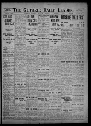 Primary view of object titled 'The Guthrie Daily Leader. (Guthrie, Okla.), Vol. 33, No. 116, Ed. 1 Friday, October 8, 1909'.
