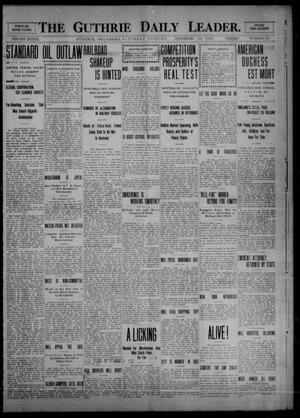Primary view of object titled 'The Guthrie Daily Leader. (Guthrie, Okla.), Vol. 33, No. 153, Ed. 1 Saturday, November 20, 1909'.