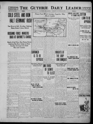 Primary view of The Guthrie Daily Leader (Guthrie, Okla.), Vol. 48, No. 90, Ed. 1 Monday, October 26, 1914