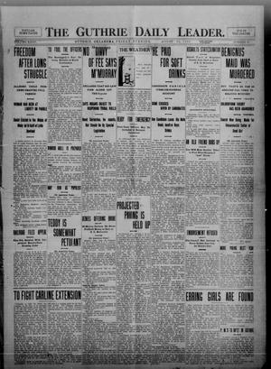 Primary view of object titled 'The Guthrie Daily Leader. (Guthrie, Okla.), Vol. 35, No. 67, Ed. 1 Friday, August 19, 1910'.