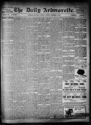 Primary view of The Daily Ardmoreite. (Ardmore, Indian Terr.), Vol. 8, No. 31, Ed. 1 Tuesday, December 4, 1900