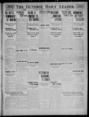 Primary view of object titled 'The Guthrie Daily Leader. (Guthrie, Okla.), Vol. 37, No. 130, Ed. 1 Saturday, November 18, 1911'.