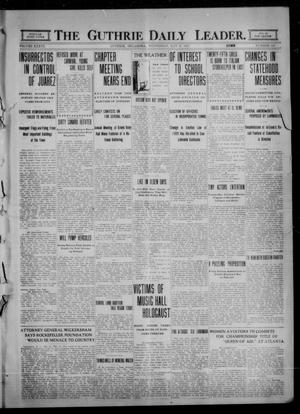 Primary view of object titled 'The Guthrie Daily Leader. (Guthrie, Okla.), Vol. 36, No. 123, Ed. 1 Wednesday, May 10, 1911'.