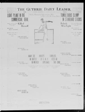 Primary view of object titled 'The Guthrie Daily Leader. (Guthrie, Okla.), Vol. 40, No. 125, Ed. 1 Wednesday, June 4, 1913'.