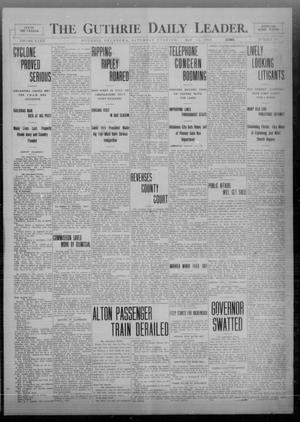 Primary view of object titled 'The Guthrie Daily Leader. (Guthrie, Okla.), Vol. 32, No. 150, Ed. 1 Saturday, May 15, 1909'.