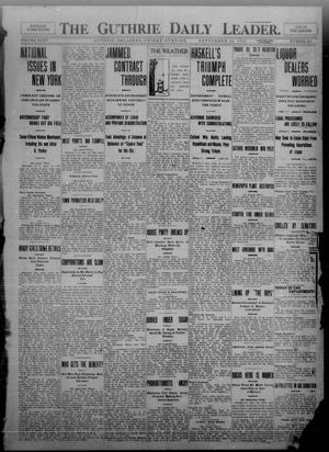 Primary view of object titled 'The Guthrie Daily Leader. (Guthrie, Okla.), Vol. 35, No. 102, Ed. 1 Friday, September 30, 1910'.