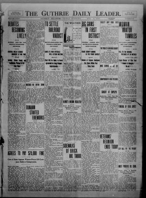 Primary view of object titled 'The Guthrie Daily Leader. (Guthrie, Okla.), Vol. 35, No. 32, Ed. 1 Friday, July 8, 1910'.