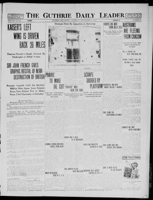 Primary view of object titled 'The Guthrie Daily Leader (Guthrie, Okla.), Vol. 48, No. 52, Ed. 1 Thursday, September 10, 1914'.