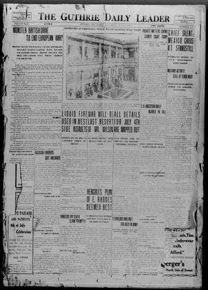 Primary view of object titled 'The Guthrie Daily Leader (Guthrie, Okla.), Vol. 50, No. 152, Ed. 1 Saturday, July 1, 1916'.