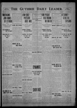 Primary view of object titled 'The Guthrie Daily Leader. (Guthrie, Okla.), Vol. 34, No. 10, Ed. 1 Wednesday, December 8, 1909'.