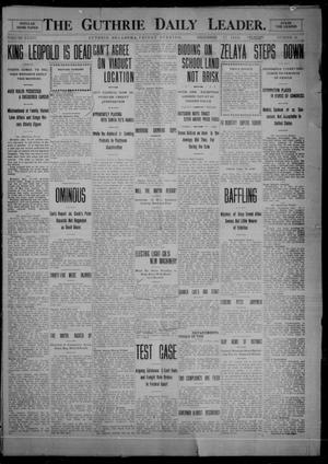 Primary view of object titled 'The Guthrie Daily Leader. (Guthrie, Okla.), Vol. 34, No. 18, Ed. 1 Friday, December 17, 1909'.