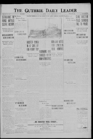 Primary view of object titled 'The Guthrie Daily Leader (Guthrie, Okla.), Vol. 48, No. 60, Ed. 1 Friday, September 15, 1916'.