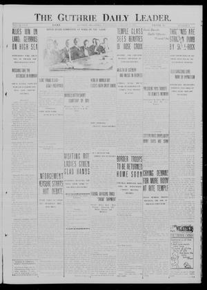 Primary view of object titled 'The Guthrie Daily Leader. (Guthrie, Okla.), Vol. 49, No. 4, Ed. 1 Wednesday, January 17, 1917'.