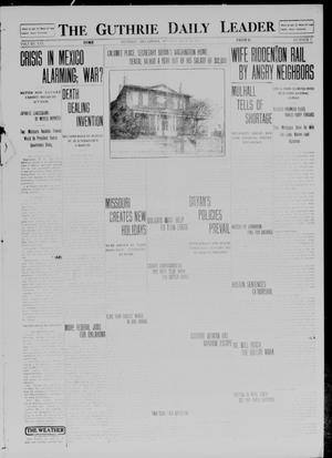 Primary view of object titled 'The Guthrie Daily Leader. (Guthrie, Okla.), Vol. 41, No. 7, Ed. 1 Monday, July 21, 1913'.