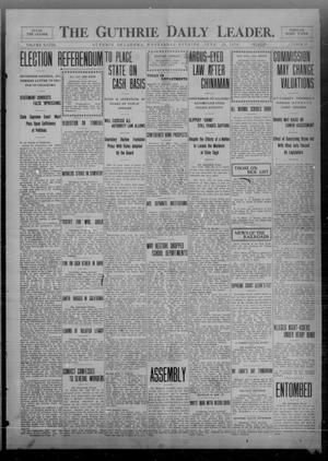 Primary view of object titled 'The Guthrie Daily Leader. (Guthrie, Okla.), Vol. 33, No. 25, Ed. 1 Wednesday, June 23, 1909'.