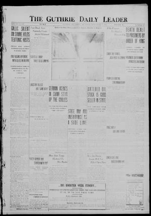 Primary view of object titled 'The Guthrie Daily Leader (Guthrie, Okla.), Vol. 48, No. 59, Ed. 1 Thursday, September 14, 1916'.