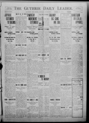 Primary view of object titled 'The Guthrie Daily Leader. (Guthrie, Okla.), Vol. 34, No. 91, Ed. 1 Monday, March 14, 1910'.