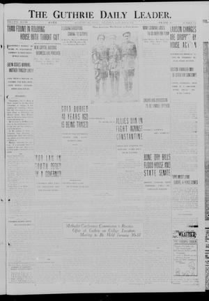 Primary view of object titled 'The Guthrie Daily Leader. (Guthrie, Okla.), Vol. 48, No. 156, Ed. 1 Thursday, January 11, 1917'.