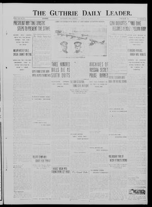 Primary view of object titled 'The Guthrie Daily Leader. (Guthrie, Okla.), Vol. 49, No. 47, Ed. 1 Friday, March 16, 1917'.