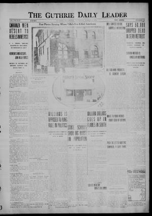 Primary view of object titled 'The Guthrie Daily Leader (Guthrie, Okla.), Vol. 50, No. 56, Ed. 1 Thursday, March 23, 1916'.