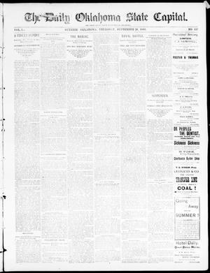 Primary view of The Daily Oklahoma State Capital. (Guthrie, Okla.), Vol. 5, No. 137, Ed. 1, Thursday, September 28, 1893