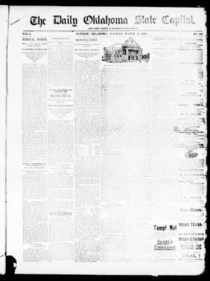 Primary view of object titled 'The Daily Oklahoma State Capital. (Guthrie, Okla.), Vol. 5, No. 284, Ed. 1, Tuesday, March 27, 1894'.