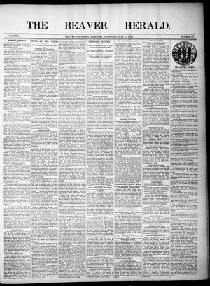Primary view of object titled 'The Beaver Herald. (Beaver, Okla. Terr.), Vol. 1, No. 23, Ed. 1, Thursday, June 27, 1895'.