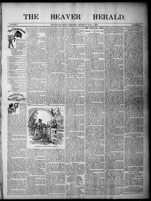 Primary view of object titled 'The Beaver Herald. (Beaver, Okla. Terr.), Vol. 1, No. 24, Ed. 1, Thursday, July 4, 1895'.