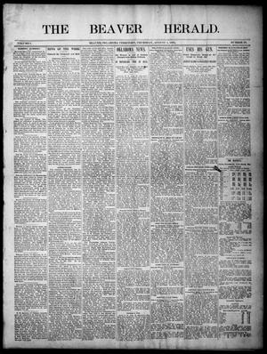 Primary view of object titled 'The Beaver Herald. (Beaver, Okla. Terr.), Vol. 1, No. 28, Ed. 1, Thursday, August 1, 1895'.