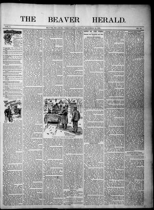 Primary view of object titled 'The Beaver Herald. (Beaver, Okla. Terr.), Vol. 1, No. 48, Ed. 1, Thursday, December 19, 1895'.