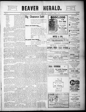 Primary view of Beaver Herald. (Beaver, Okla. Terr.), Vol. 3, No. 9, Ed. 1, Thursday, April 1, 1897