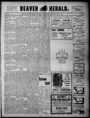 Primary view of Beaver Herald. (Beaver, Okla. Terr.), Vol. 11, No. 4, Ed. 1, Thursday, July 1, 1897