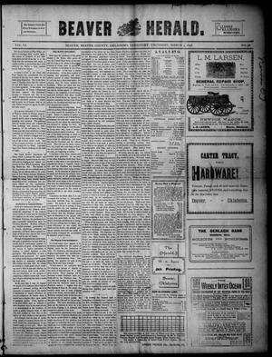 Primary view of object titled 'Beaver Herald. (Beaver, Okla. Terr.), Vol. 11, No. 38, Ed. 1, Thursday, March 3, 1898'.