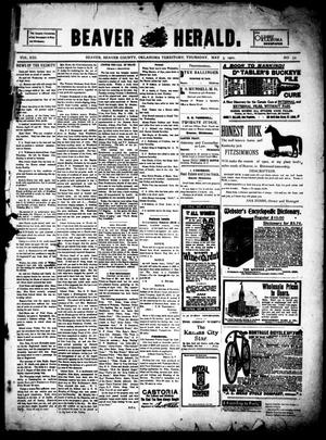 Primary view of object titled 'Beaver Herald. (Beaver, Okla. Terr.), Vol. 13, No. 52, Ed. 1, Thursday, May 3, 1900'.