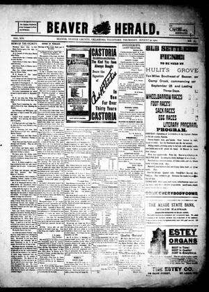 Primary view of Beaver Herald. (Beaver, Okla. Terr.), Vol. 14, No. 17, Ed. 1, Thursday, August 30, 1900
