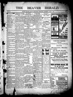 Primary view of object titled 'The Beaver Herald. (Beaver, Okla. Terr.), Vol. 15, No. 1, Ed. 1, Thursday, May 9, 1901'.