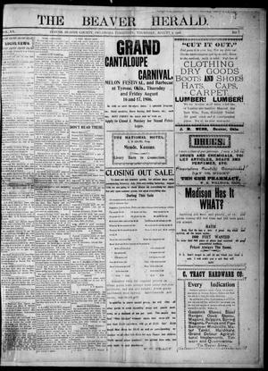 Primary view of The Beaver Herald. (Beaver, Okla. Terr.), Vol. 20, No. 7, Ed. 1, Thursday, August 2, 1906