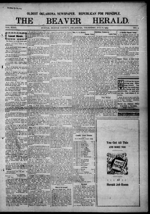 Primary view of object titled 'The Beaver Herald. (Beaver, Okla.), Vol. 23, No. 4, Ed. 1, Thursday, July 8, 1909'.