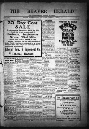 Primary view of The Beaver Herald. (Beaver, Okla.), Vol. 24, No. 43, Ed. 1, Thursday, April 6, 1911