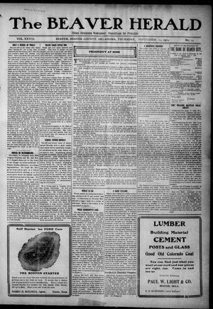 Primary view of The Beaver Herald (Beaver, Okla.), Vol. 28, No. 14, Ed. 1, Thursday, September 10, 1914