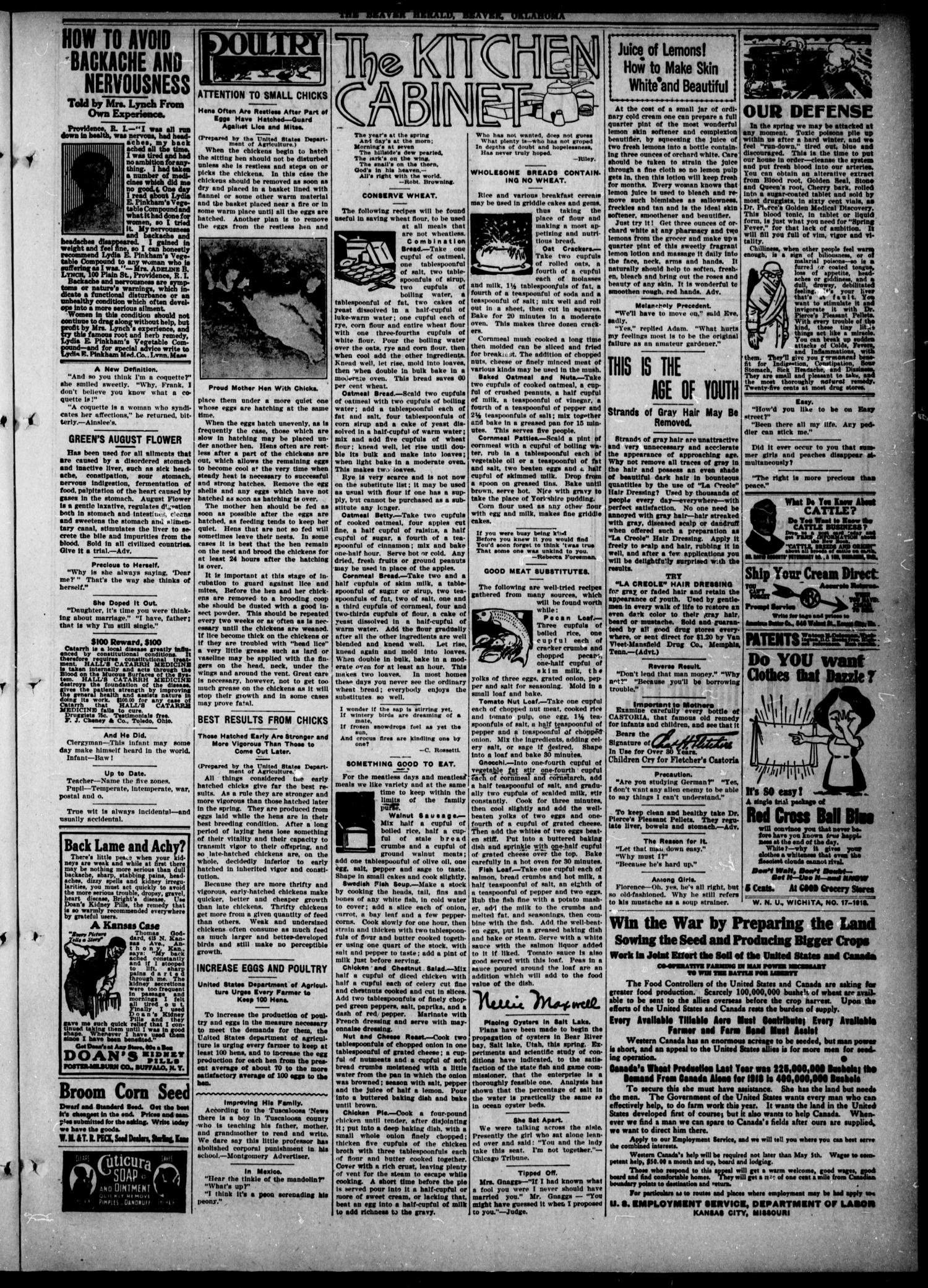Beaver Herald (Beaver, Okla.), Vol. 31, No. 51, Ed. 1, Thursday, May 23, 1918                                                                                                      [Sequence #]: 3 of 8
